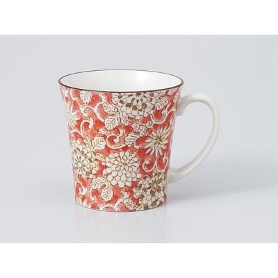 マグカップ おしゃれ/ 軽量反型マグ 色唐草(赤) /業務用 家庭用 コーヒー カフェ ギフト プレゼント 贈り物