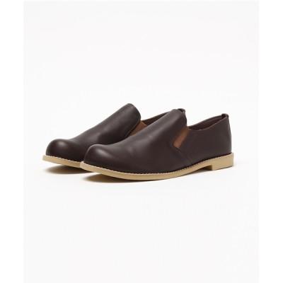 TIDEWAY / LEATHER SLIP-ON SHOES 靴 WOMEN シューズ > スリッポン