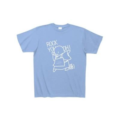 ろっきゅー(白) Tシャツ Pure Color Print(サックス)