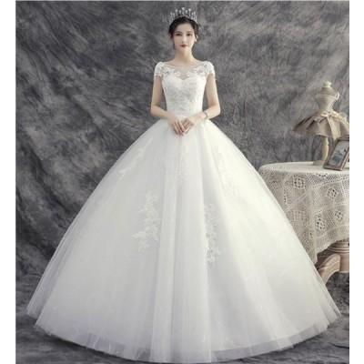 ウェディングドレス マーメイドドレス 披露宴 結婚式 花嫁 演奏会 海外挙式ドレス  リゾート ロングドレス 二次会 床付きタイプ