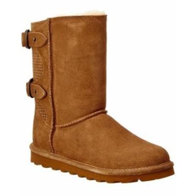Bearpaw ベアパウ シューズ ブーツ Bearpaw Clara Never Wet Water-Resistant Suede Boot 9 Brown
