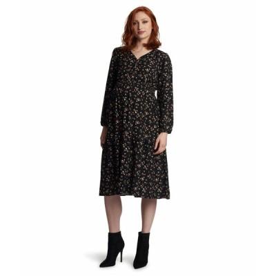 エベリーグレイ ワンピース トップス レディース Jenny Maternity/Nursing Dress Black Floral