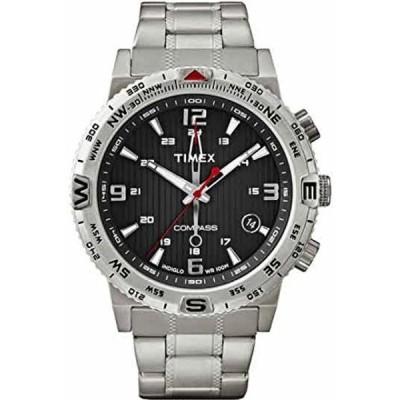 タイメックス 腕時計 メンズウォッチ Timex Intelligent Quartz T2P289 Mens Compass Silver Steel Braselet Watch