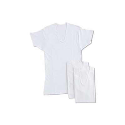 [グンゼ] インナーシャツ 良品紀行 綿100% 半袖U首 3枚組 SV31163 メンズ ホワイト 日本L (日本サイズL相当)