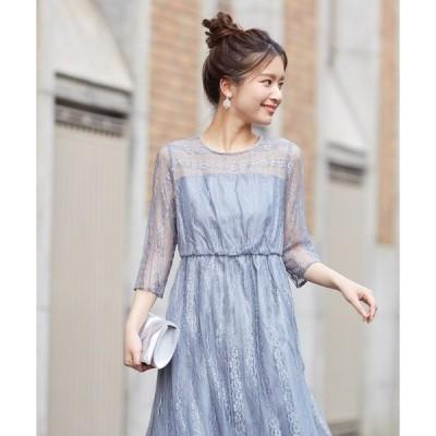 ドレス 【WEB限定】オールレースロングドレス