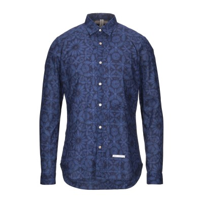 DNL シャツ ブルー 40 コットン 100% シャツ