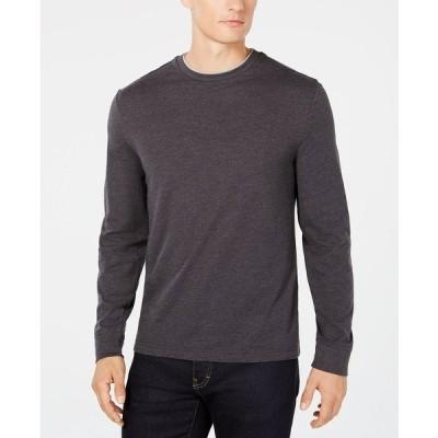 クラブルーム Tシャツ トップス メンズ Men's Doubler Crewneck T-Shirt, Created for Macy's Charcoal Heather