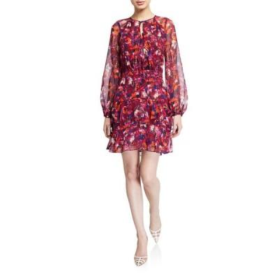 パーカー レディース ワンピース トップス Marengo Floral-Print Long-Sleeve Dress