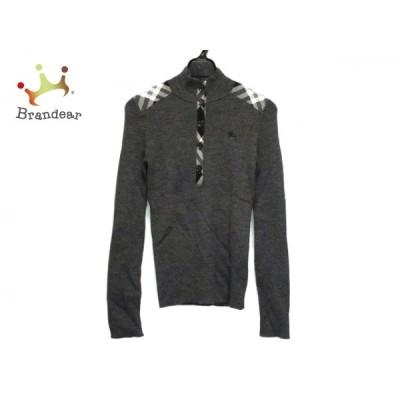 バーバリーブルーレーベル 長袖セーター サイズ38 M レディース - ダークグレー 新着 20201029