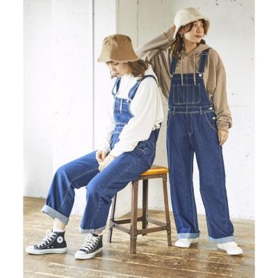 デニムオーバーオール WEGO レディース パンツ オーバーオール 女の子 女性 ボトムス ボトム ズボン サロペット デニム お揃い 双子 サイズ展開 Sサイズ Mサイズ