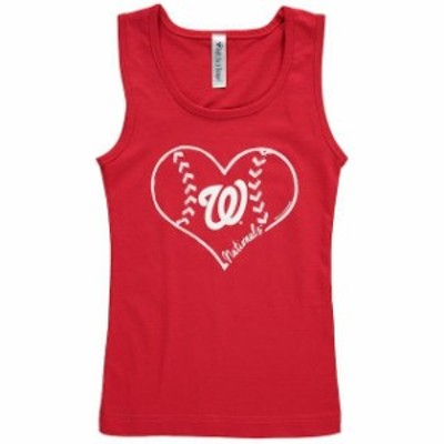 Soft as a Grape ソフト アズ ア グレープ 服 タンクトップ Soft as a Grape Washington Nationals Girls Youth Red Cotton Tank Top