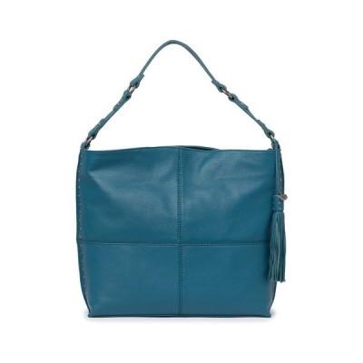 ザサック レディース ショルダーバッグ バッグ Silverlake City Studded Hobo Bag TEAL