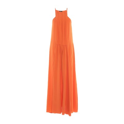 レ コパン LES COPAINS ロングワンピース&ドレス オレンジ 42 アセテート 69% / シルク 31% ロングワンピース&ドレス
