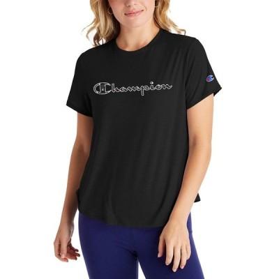 チャンピオン Tシャツ トップス レディース Women's Double Dry T-Shirt Black