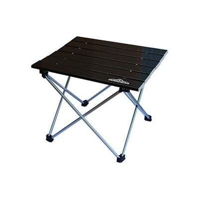 DABADA(ダバダ) アルミテーブル アウトドアテーブル キャンプテーブル レジャー 折りたたみ (ブラック)