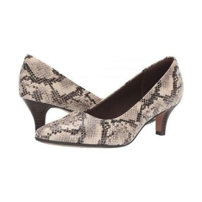 Clarks クラークス レディース 女性用 シューズ 靴 ヒール Linvale Jerica - Taupe Snake Leather