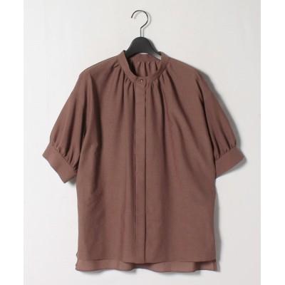 【ロートレ・アモン】 シワになりにくい クリスピーボイルシャツ レディース ブラウン 38(2) LAUTREAMONT