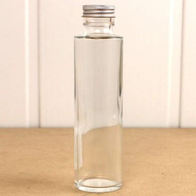 即日 ハーバリウム瓶 丸 150ml アルミ銀キャップ付 ハーバリウム 瓶 ボトル ガラス瓶