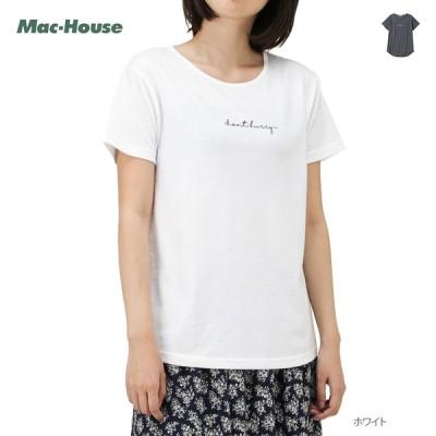 Tシャツ 半袖 半袖Tシャツ クルーネック レディース 刺繍 メッセージ ネコポス対応
