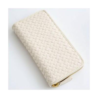 レザー 本革 牛革 長財布 ファッション 白ラウンドファスナー カード パスポート 誕生日 記念日プレゼント 男女兼用