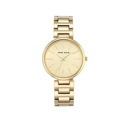 Anne Klein Women's Nora Quartz Watch with Gold Dial Analogue Display and Gold Metal Bracelet AK/N2786CHGB 並行輸入品
