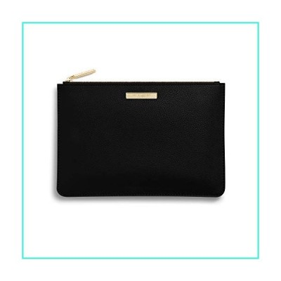 【新品】Katie Loxton Women's Medium Soft Pebble Vegan Leather Clutch Perfect Pouch Black(並行輸入品)