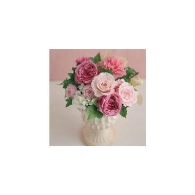 イングリッシュローズとピンクの花