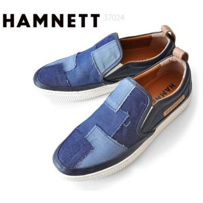 ハムネット HAMNETT 37024 カジュアルシューズ スニーカー スリッポン デニム 靴 メンズ