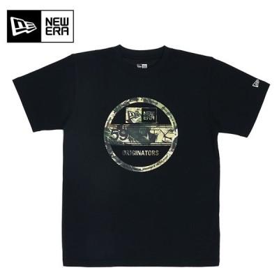 ニューエラ ボタニカル バイザーステッカー パフォーマンスTシャツ Tシャツ 半袖 12325116 ブラック