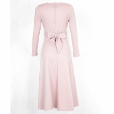 ドレス キャバドレス パーティードレス 大きいサイズ カシュクー 無地 ミモレ丈 フォーマル キャバ嬢