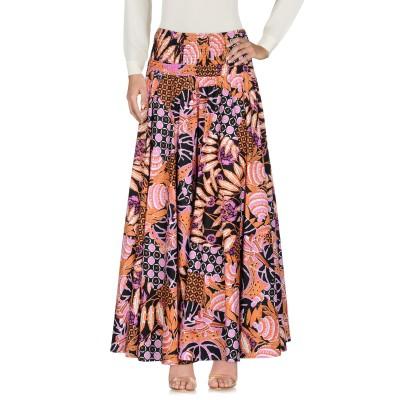 EMMA & GAIA ロングスカート オレンジ 40 コットン 97% / ポリウレタン 3% ロングスカート