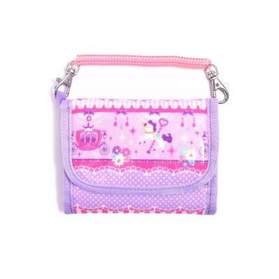 キッズウォレット(財布) レースチュールとメリーゴーランド(ピンク) (お財布 子供用 コインケース 子供)