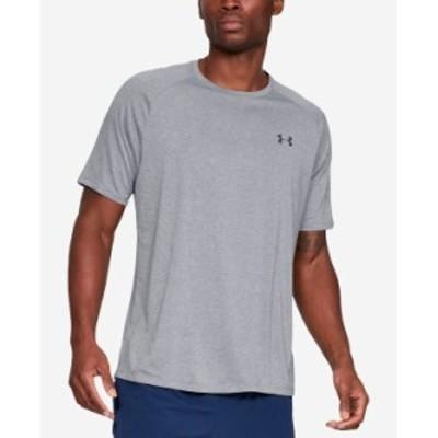 アンダーアーマー メンズ Tシャツ トップス Men's Tech Short Sleeve Steel Light Heather/Black