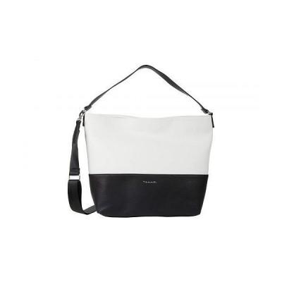 Tahari タハリ レディース 女性用 バッグ 鞄 バックパック リュック Bleeker St Bucket - Black/White