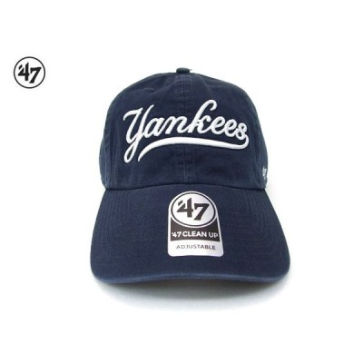 ヤンキース キャップ 刺繍 CAP 47 CLEAN UP キャップ  ネイビーyankees Script メジャーリーグ
