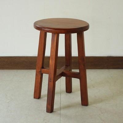 スツール オールドチークウッド 天然木 木製 丸椅子 イス