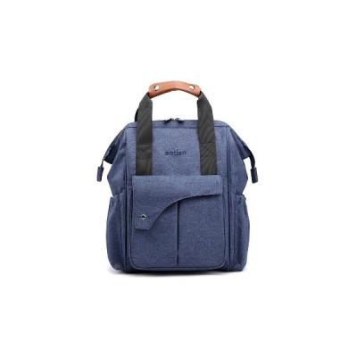 (ブラック)ミイラバックパック防水ベビーおむつバッグおむつポータブル旅行収納袋女性ショルダーバッグ