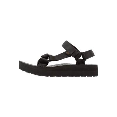 テバ サンダル レディース シューズ MIDFORM UNIVERSAL - Walking sandals - black