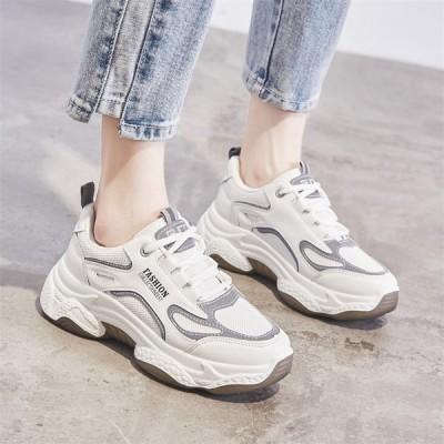 レディース スニーカー カジュアルシューズ ウォーキング 厚底 ランニング 女子靴 運動靴