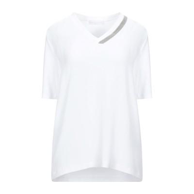 ファビアナフィリッピ FABIANA FILIPPI ブラウス ホワイト 46 コットン 94% / ポリウレタン 6% / アセテート / シルク