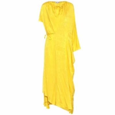 バレンシアガ Balenciaga レディース ワンピース ワンピース・ドレス Silk-jacquard dress Yellow