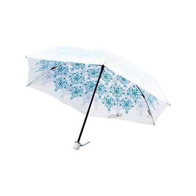 UVION ユヴィオン 晴雨兼用 軽量 折り畳み傘 日傘 プレミアムホワイト 50cm [クリスタル ブルー 青 6本骨] 雨傘 UVケ