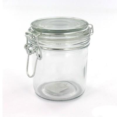 Glass Vessel ミニガラス密閉ボトル 300ml ソーダガラスキャニスター