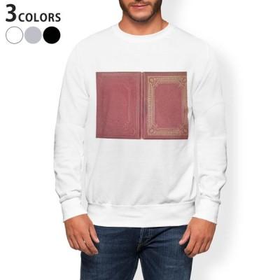 トレーナー メンズ 長袖 ホワイト グレー ブラック XS S M L XL 2XL sweatshirt trainer 裏起毛 スウェット レトロ 赤 模様 010280