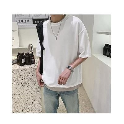 2020春夏新作 メンズ 半袖 シャツ tシャツ 通気速乾 汗染み防止 薄手 ゆったり 柔らかい  かっこいい カジュアル シンプル オシャレ 大きいサイズ