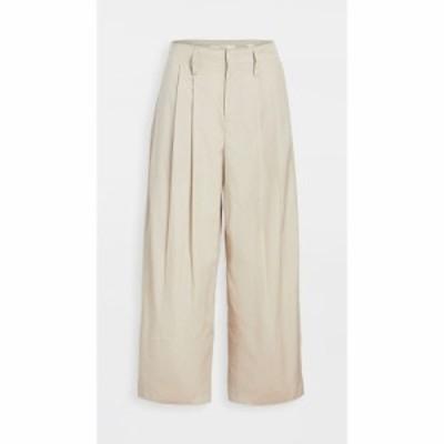 ヴィンス Vince レディース クロップド ワイドパンツ ボトムス・パンツ pleat front crop wide pants Cobblestone