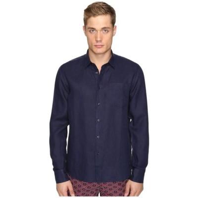 ヴィルブレクイン Vilebrequin メンズ シャツ トップス Linen Long Sleeve Button Up Navy