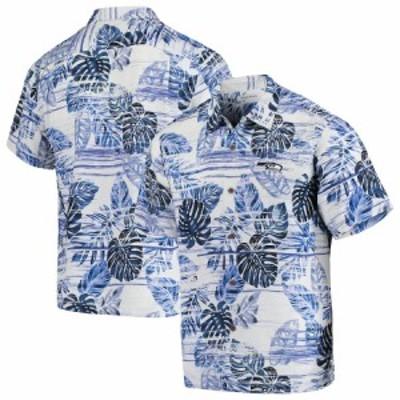 """メンズ カジュアルシャツ """"Seattle Seahawks"""" Tommy Bahama Super Fan Camp Button-Up Shirt - College Navy"""