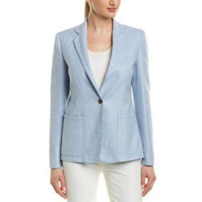 max マックス ファッション 衣類 Max Mara Silk-Blend Jacket 10 Blue