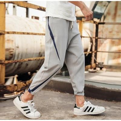メンズ パンツ ジョガーパンツ ファッション 裾ゴム パンツ ズボン ボトムス スラックス イージーパンツ mzb45